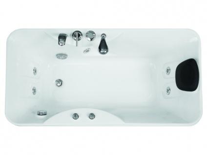 Whirlpool Badewanne GAVINO - 1 Person - 140 Liter - Ecke Links - Vorschau 2