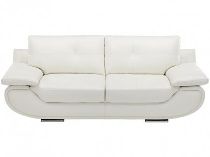Ledersofa 3-Sitzer Orgullosa- Luxusleder - Weiß - Vorschau 3