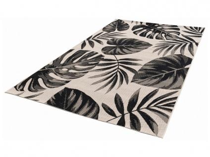 Teppich Ethno-Stil JUMBA - 160 x 230 cm - Schwarz & Cremefarben