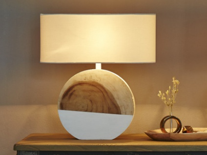 Lampe Holz BEYLA - Höhe: 61 cm