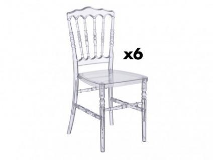 Stuhl 6er-Set Polycarbonat VICOMTE - Transparent