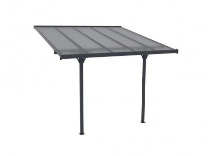 Terrassendach anlehnend ALVARO - Aluminium - 9, 5 m² - Vorschau 4