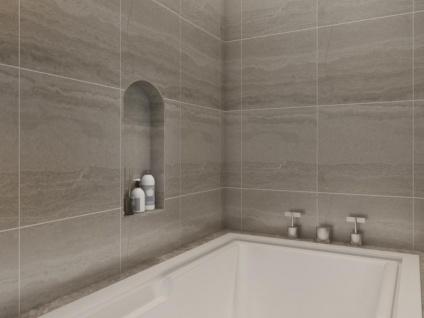 Duschnische abgerundet zum Verfliesen MARLA - 31 x 61 cm