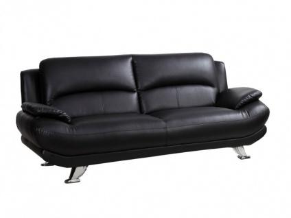 Sofa 3-Sitzer MUSKO - Schwarz - Vorschau 5