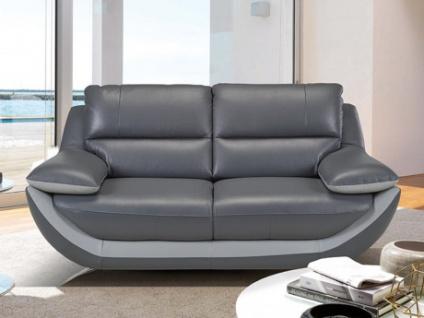Ledersofa 2-Sitzer ADAGIO - Standardleder - Anthrazit-Grau
