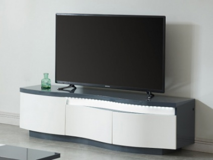 TV-Möbel Hochglanz LED WINDY - 3 Türen