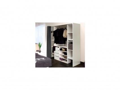 Sparset: Kleiderschranksystem mit Kommode EMERIC - Weiß & Anthrazit