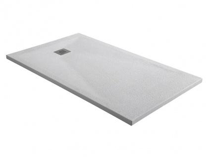 Duschwanne mit Siphon MIRNOS - 1400x800x35 mm - Weiß