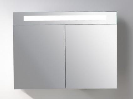 Badschrank Spiegelschrank Mit LED Beleuchtung ISAURA   B80 X H60 Cm 1 ...