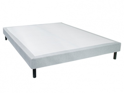 Bettgestell mit Lattenrost PARNASSE - Grau meliert - 160x190 cm