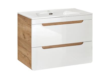 Komplettbad mit Einzelwaschbecken ARUBA - Weiß - Breite: 80 cm - Vorschau 2