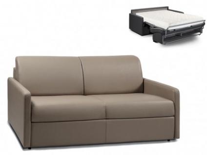 Schlafsofa 3-Sitzer CALIFE - Taupe - Liegefläche: 140 cm - Matratzenhöhe: 18cm
