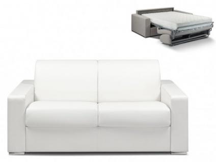 Schlafsofa 2-Sitzer CALITO - Weiß - Liegefläche: 120 cm - Matratzenhöhe: 22cm
