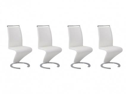 Stuhl Freischwinger 4er-Set Twizy - Weiß - Vorschau 4