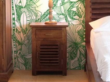 Nachttisch Holz massiv Bali II