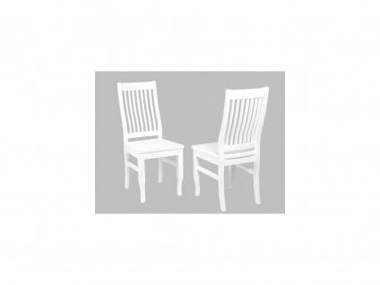 Stuhl 2er-Set Massivholz Gerande