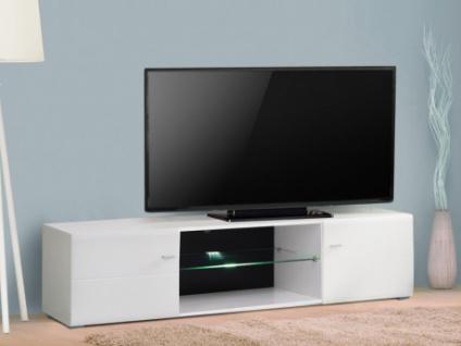 LED TV-Möbel Glas ELIAZ