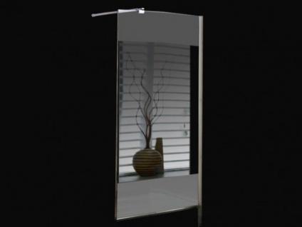 Duschtrennwand Seitenwand Spiegel für bodengleiche italienische Dusche Carla - 140x200 cm