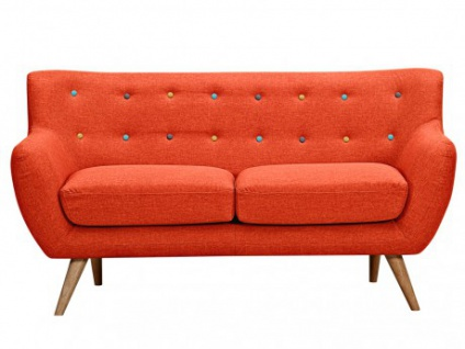 2-Sitzer-Sofa Stoff Serti - Orange