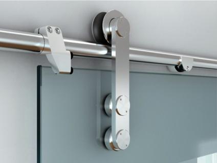 Glasschiebetür Stahl Glassy - 205x83 cm - Vorschau 4