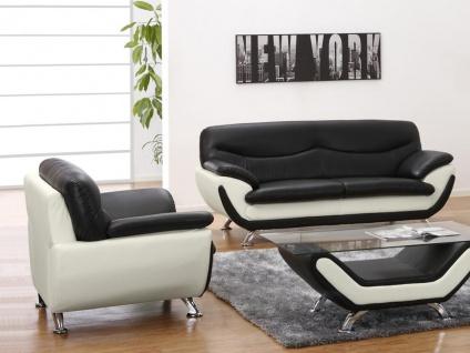 Couchgarnitur 3+1 Indiz - Schwarz & Weiß - Vorschau 3