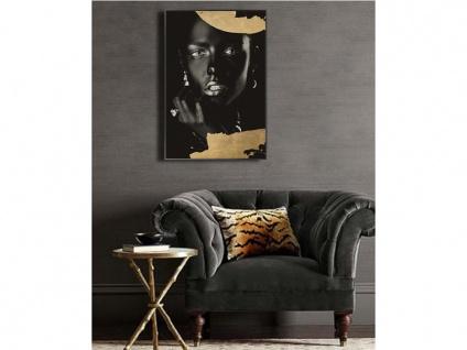 Kunstdruck gerahmt CLASSE - 60 x 90 x 2, 5 cm - Goldfarben & Schwarz