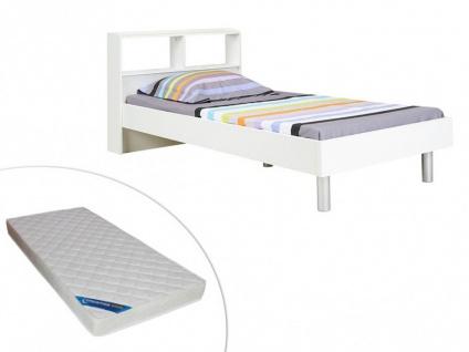 Set Bett mit Stauraum LUCILE + Matratze - 90x190cm