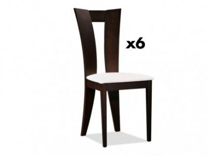 Stuhl 6er-Set Massivholz Tiffany