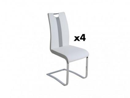 Stuhl Freischwinger 4er-Set Matilda - Weiß