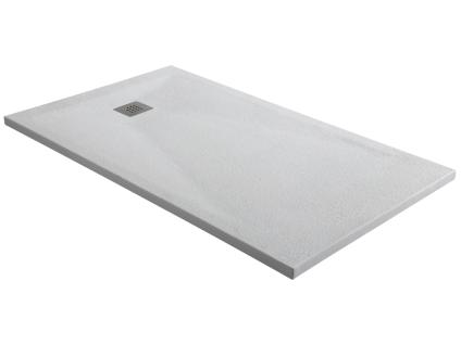 Duschwanne mit Siphon MIRNOS - 1200x900x35mm - Weiß