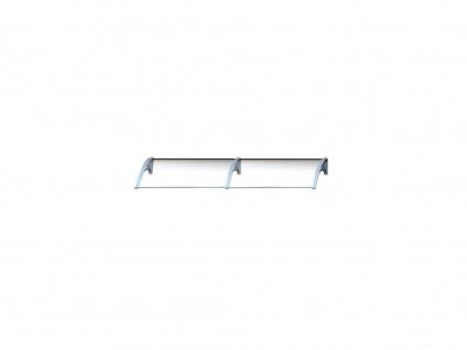 Vordach Aluminium Copalina - 240 x 92, 5 cm