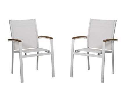 Gartensessel Aluminium 2er-Set TAIPIVAI - Weiß