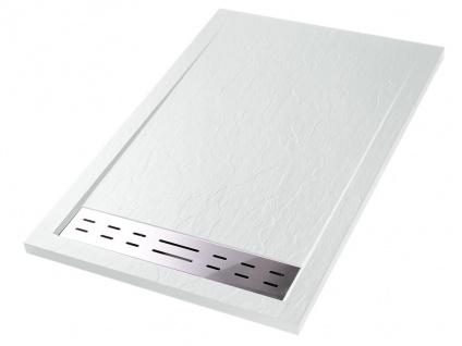 Duschwanne mit Siphon LYROS - 1200x900x40 mm - Weiß