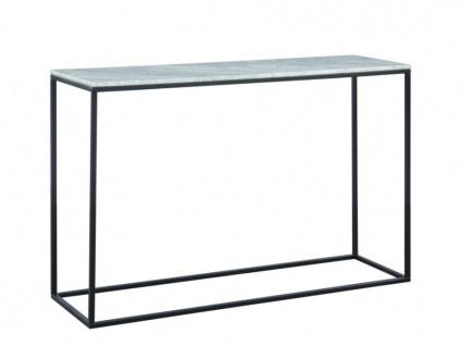 Wandkonsole Design Marmor & Metall ARETHA - Schwarz/Weiß