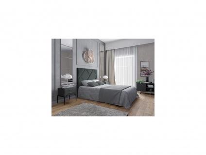 Bett-Kopfteil KANDRA - 140 cm - Samt - Grau