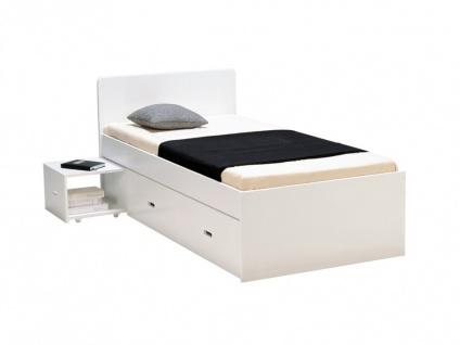 Bett mit Bettkasten PACOM - 90x190cm - Weiß - Vorschau 2