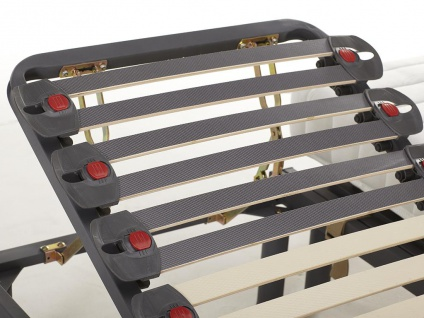 Matratzen 3-Zonen-Lattenrost Set verstellbar KUTA von DREAMEA - 2x70x190 cm