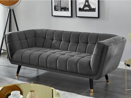 3-Sitzer-Sofa Samt SAMANTHA - Grau