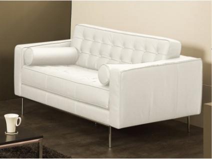 Ledersofa 2-Sitzer Vittoria - Standardleder - Weiß