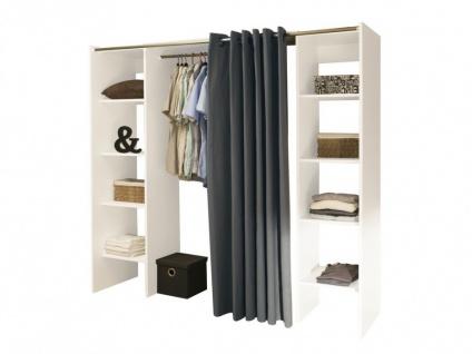 Kleiderschrank Kleiderschranksystem Emeric - Weiß & Anthrazit - Vorschau 2