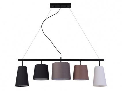Hängeleuchte mit 5 Lampenschirmen Stoff GANON - 100x22x104 cm