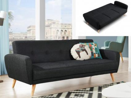 3 Sitzer Sofa Stoff Mit Bettfunktion Maelo Anthrazit Kaufen Bei