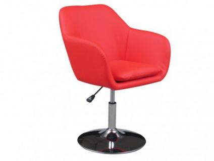 Lounge-Sessel Malestior - Drehbar - Rot