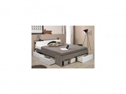 PARISOT Bett mit Stauraum Most - Verstellbar 160x200 - Taupe