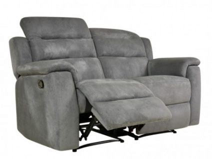 Relaxsofa Microfaser 2-Sitzer SIMONO - Anthrazit