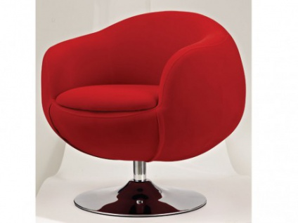 Lounge-Sessel Stoff Whisper - Rot