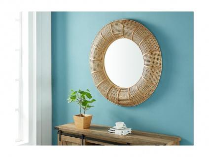 Wandspiegel Ethno-Stil JULIA - Rattan & Bambus - D. 95 cm