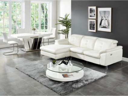 Relaxsofa Ecksofa Leder LISMORE - Weiß - Ecke Links - Vorschau 4