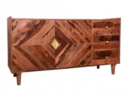 Sideboard Sheeshamholz KALEIDO - 2 Türen & 3 Schubladen