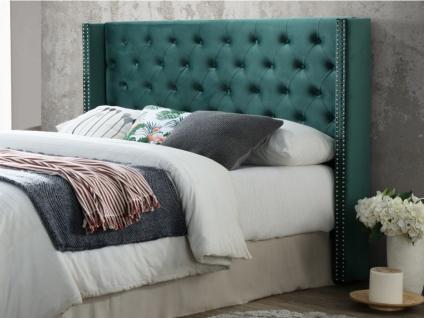 Kopfteil Bett Samt MASSIMO - Breite: 160 cm - Grün